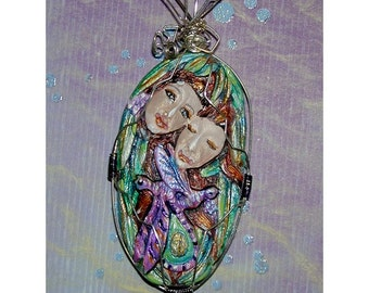 Sale Half Price Twins with Dragonflys Pendant Dragonfly Lovers