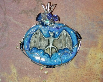 The Bat Signal Halloween Pendant with Glow in the Dark