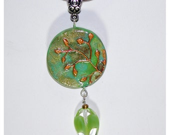 Branch and Leaves  Handmade Pendant