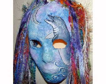 Leaping Dolphin with Cresent Moon Mermaid Mask I Light Up First Place