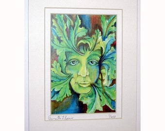 Greenwoman Lady in the Leaves Print 1 of 250