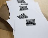 Old School Typewriter - Flat Note Stationery - Set of 6