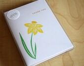 Daffodil - Thank You - Handmade Cards - Box of 6