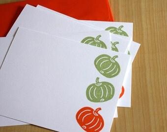 Pumpkins - Handmade Stationery - Set of 6