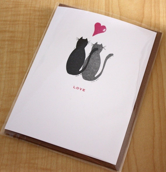 Black Cats - Love - Greeting Card