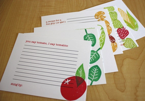Farmer's Market Collection - Stovetopics - Recipe Card Sampler - Set of 6