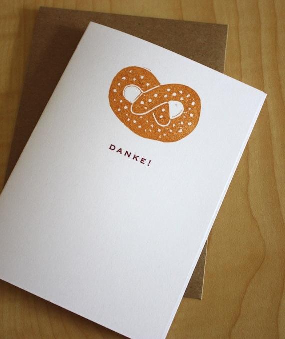Danke - Pretzel - Handmade Cards - Box of 6