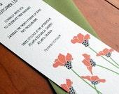 The Poppy  Art Deco Wedding Invitations Sample