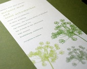 Green and Gray Queen Anne's Lace Invitation Sample Pack