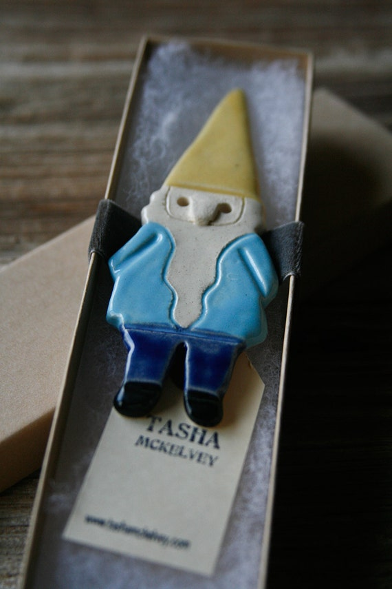 Gnome Magnet - Handmade Pottery