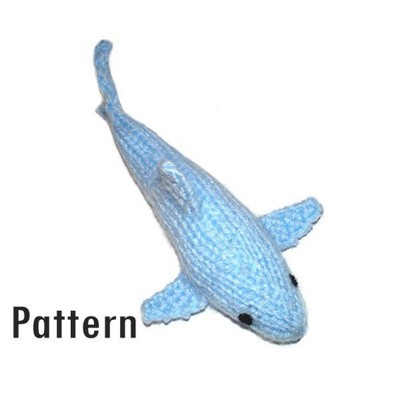 PDF Pattern Horace the Shark Knitting and Crochet