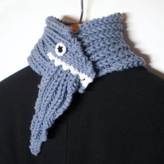Monster Scarf - Blue - Wool Blend