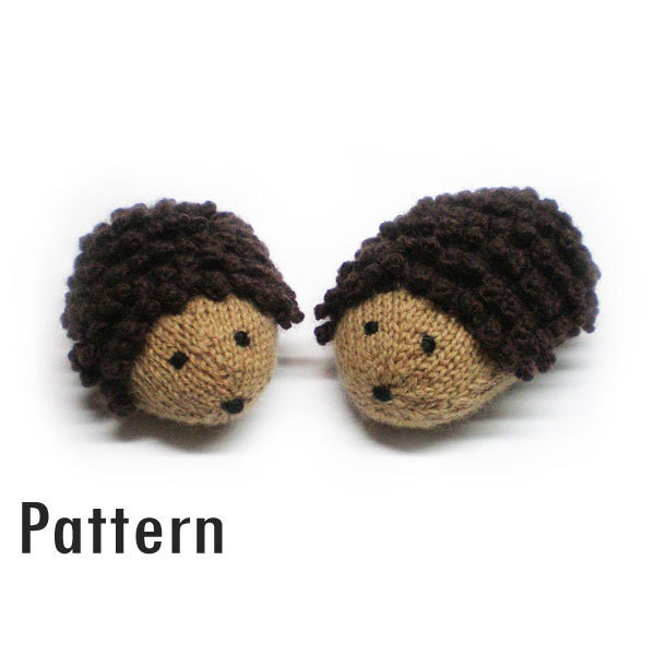 Knitting Pattern For Hedgehog : PDF Pattern Trevor the Hedgehog Knitting and Crochet