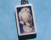 Snowy Owl Pendant Necklace