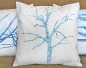Azure Tree 16 inch Pillow Cover series M