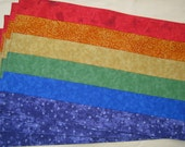 Placemats Bright Rainbow Red Orange Yellow Green Blue Purple Set of 4