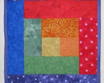 Tablerunner Bright Rainbow Red Orange Yellow Green Blue Purple Half-size