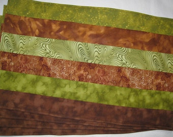 Placemats Earth Rich Brown and Olive Green Set of 4