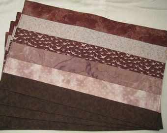 Placemats Earth Brown and Beige Set of 4