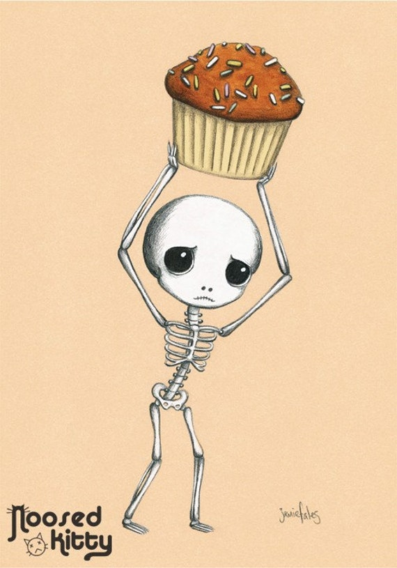 Cupcake Bounty Skeleton Print