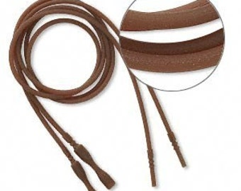 Brown Silicone Cord Necklace with Snap Closure, 16 inches Jewelry Craft DESTASH