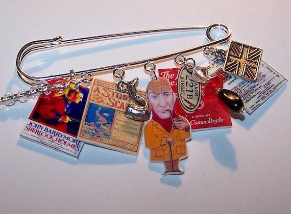 SHERLOCK HOLMES Literary Art Pin