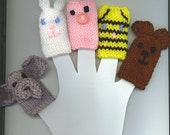 5 Cute Animal Finger Puppets - Second Design