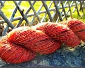 Gypsy Rose - Handspun Yarn - Mohair, Wool & Sparkle - 274 yards