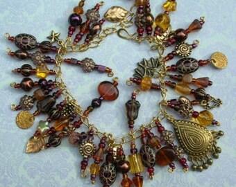 Autumn Twilight- Art Charm Bracelet