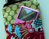 CUSTOM LISTING FOR LISA                                                                                                            READY TO SHIP Ipod Cell Phone Camera Case Mp3 Pouch  Amy Butler Fabric Belle Flowers Print