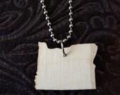 Oregon shape pride necklace