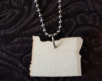 Oregon shape pride necklace