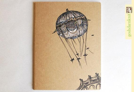 Bridges and Balloons Moleskine Cahier . XL Notebook . Plain