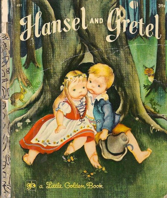 VINTAGE KIDS BOOK Hansel & Gretel Little Golden Book