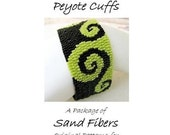 Peyote Pattern - Fiddle Dee Dee Peyote Cuffs - A Sand Fibers  PDF Pattern Package for Personal Use Only - 3 for 2