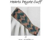 Peyote Pattern - Narrow  Bargello Hearts Cuff / / Bracelet - A Sand Fibers For Personal Use Only PDF Pattern - 3 for 2 Savings Program