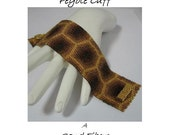 3 for 2 Program - Golden Honeycomb Peyote Cuff - For Personal Use Only PDF Pattern