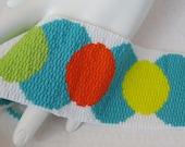 Wake Up - Citrus Medallions Peyote Cuff Bracelet (2373) - A Sand Fibers Creation
