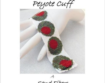Peyote Pattern - Martini, Anyone Cuff / Bracelet - A Sand Fibers For Personal Use Only PDF Pattern - 3 for 2 Savings Program