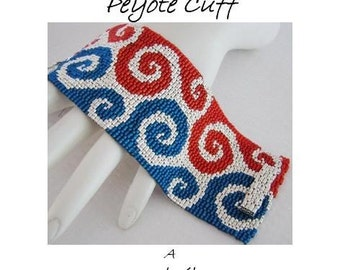3 for 2 Program - Dee-lightful Swirls Peyote Cuff - For Personal Use Only PDF Pattern