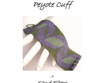 3 for 2 Program - Curlicues Peyote Cuff - For Personal Use Only PDF Pattern