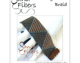 Peyote Pattern - Log Cabin Braid Cuff / Bracelet - A Sand Fibers For Personal/Commercial Use PDF Pattern