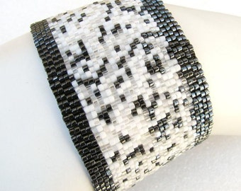 Not So Innocent Peyote Cuff Bracelet (2435) - A Sand Fibers Creation