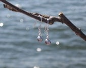 Mist Earrings - Sterling Silver and Freshwater Pearl