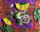 Little Flowers ART QUILT origami