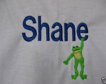 Custom Boutique Hanging Frog Shirt