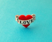 Tattoo Heart Love Ring