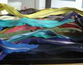 vintage zippers- lot of sixty
