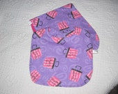 3 piece Purplr n Pink Born to Shop Burp n Bib Set