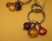 Yellow Orange and Red Earrings